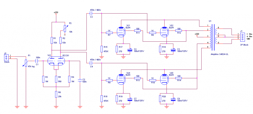 Tube Amplifier schematic 1