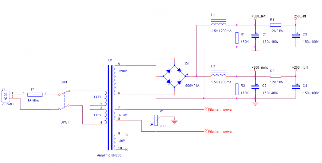 Tube Amplifier schematic 2