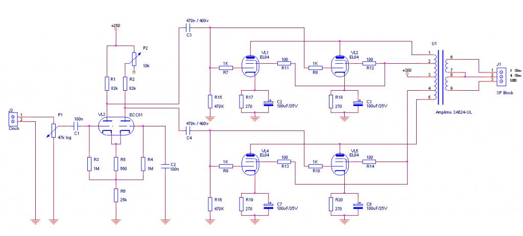 Tube Amplifier schematic 1