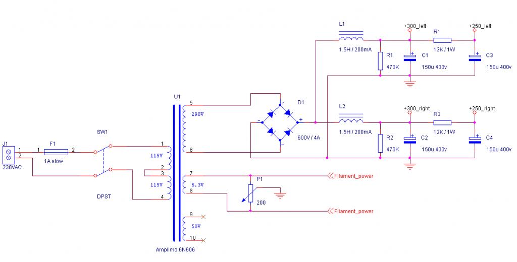 Tube Amplifier schematic 2
